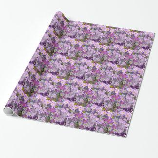 Papel De Regalo Floral en lila