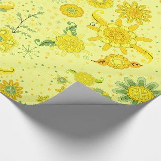 Papel De Regalo Flores amarillas bonitas