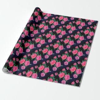Papel De Regalo Flores color de rosa coloridas