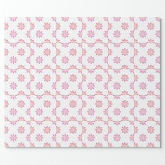 Papel De Regalo Flores de Lotus en sombras del rosa