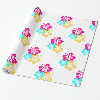 Papel De Regalo Flores hawaianas del hibisco