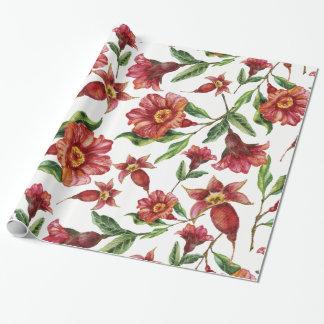 Papel De Regalo Flores rojas