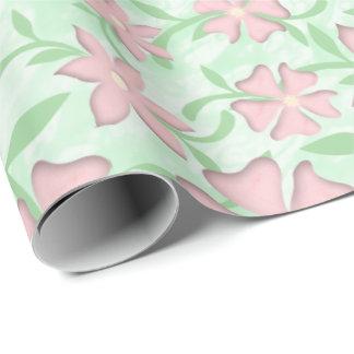 Papel De Regalo Flores rosadas de la primavera de la floración de