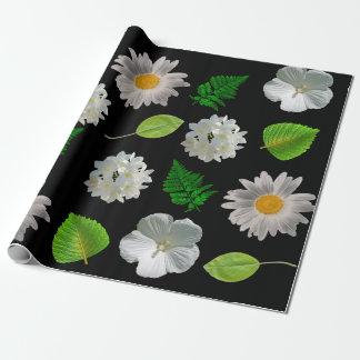 Papel De Regalo Flores y hojas