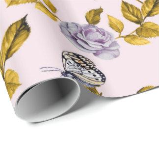 Papel De Regalo Flores y mariposas