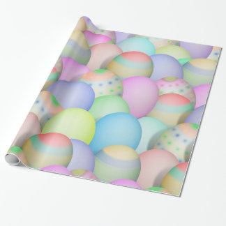 Papel De Regalo Fondo coloreado de los huevos de Pascua