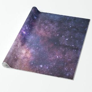 Papel De Regalo Fondo púrpura de la galaxia