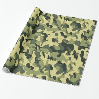 Papel De Regalo Fondo verde del modelo del camuflaje del negro del