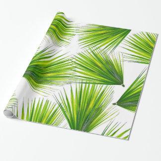 Papel De Regalo Frondas hawaianas exóticas tropicales de la palma
