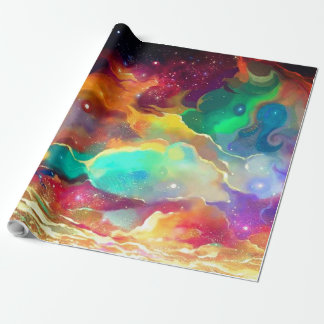 Papel De Regalo Galaxia líquida colorida del espacio exterior del
