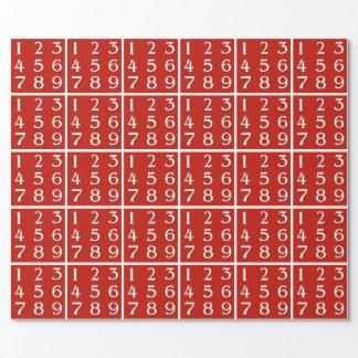Papel De Regalo Genio de florecimiento de la matemáticas