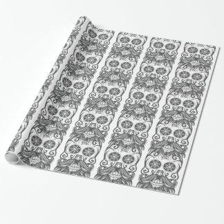 Papel De Regalo Hipster sugar skull 1