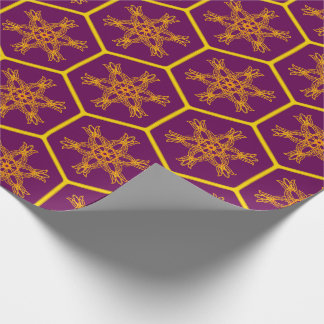 Papel De Regalo Honeycomb drawing pattern with royal flower