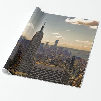 Papel De Regalo Horizonte del paisaje del Empire State Building