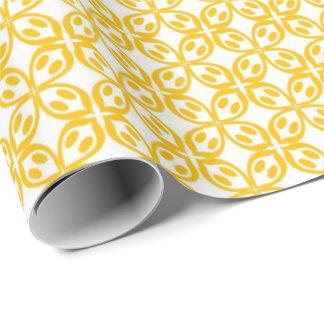 Papel De Regalo Impresión amarilla limón