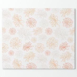 Papel De Regalo Impresión botánica del jardín suculento del