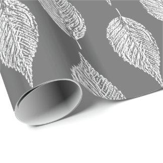 Papel De Regalo Impresión de la tiza de la hoja de la haya,