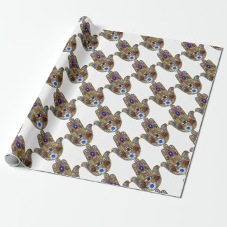 Papel De Regalo Impresión del ópalo del arte de las flores de los
