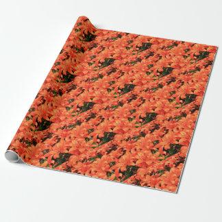Papel De Regalo Liliums anaranjados en la floración