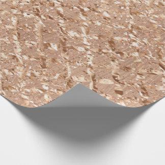 Papel De Regalo Los cristales color de rosa del oro se ruborizan