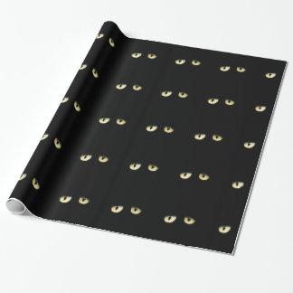 Papel De Regalo Los ojos de gato negro