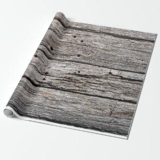 Papel De Regalo Los paneles de madera resistidos rústicos de la
