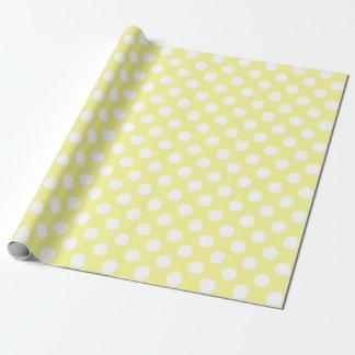 Papel De Regalo Lunares amarillos y blancos soleados