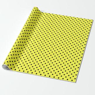 Papel De Regalo Lunares amarillos y negros