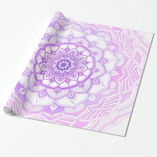 Papel De Regalo Mandala bohemia tribal que dibuja púrpura elegante
