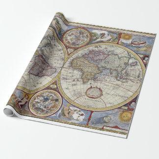 Papel De Regalo Mapa del mundo antiguo #3