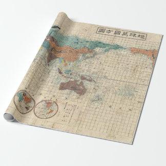 Papel De Regalo Mapa del mundo del japonés del vintage