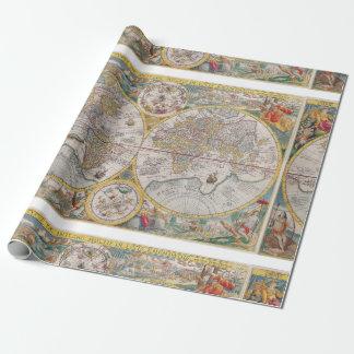 Papel De Regalo Mapa del mundo medieval a partir de 1525