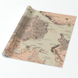 Papel De Regalo Mapa del vintage de La Habana Cuba (1898) 2