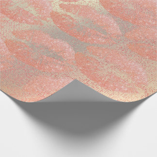Papel De Regalo Maquillaje color de rosa Beuty de los labios del