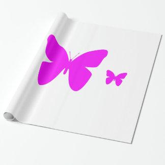 Papel De Regalo Mariposa rosada