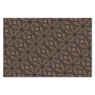 Papel de regalo marrón del papel seda del mosaico