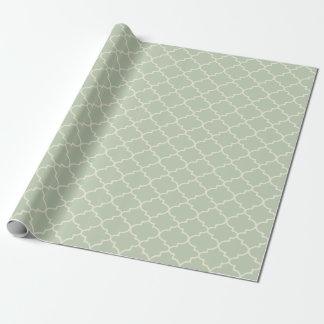 Papel de regalo marroquí verde en colores pastel