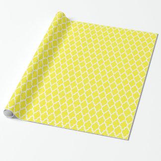 Papel De Regalo Modelo blanco amarillo #4 de Quatrefoil del