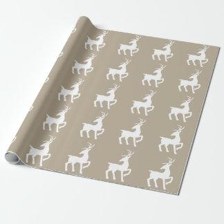 Papel De Regalo Modelo blanco de la silueta de los ciervos en