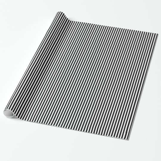 Papel De Regalo Modelo blanco y negro de la raya