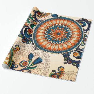 Papel De Regalo Modelo bohemio colorido de la moda del hippy de la