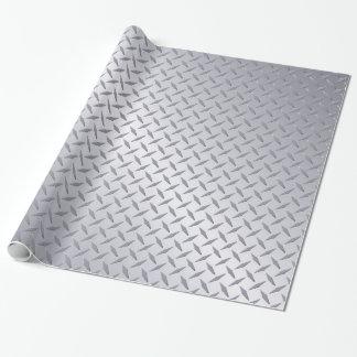 Papel De Regalo Modelo de acero brillante de la placa del diamante