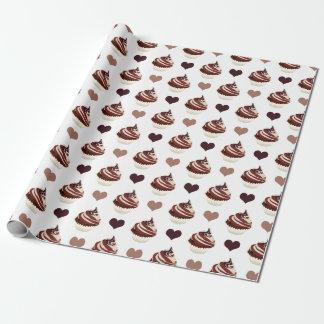 Papel De Regalo modelo de las magdalenas del chocolate