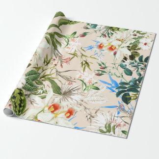Papel De Regalo Modelo de los Wildflowers del vintage