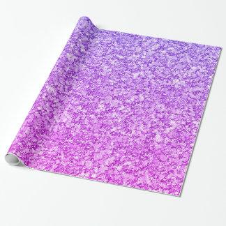 Papel De Regalo Modelo del brillo de la púrpura y del rosa