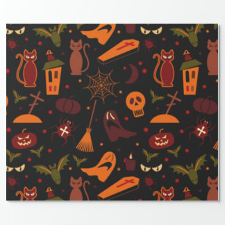 Papel De Regalo Modelo fantasmagórico de Halloween
