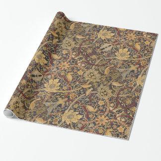 Papel De Regalo Modelo floral de la tela de la tapicería del