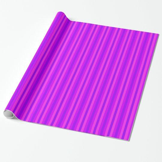 Papel De Regalo Modelo púrpura y rosado del Hippie de Stripey