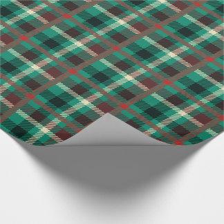 Papel De Regalo Modelo rústico de la tela escocesa del trullo
