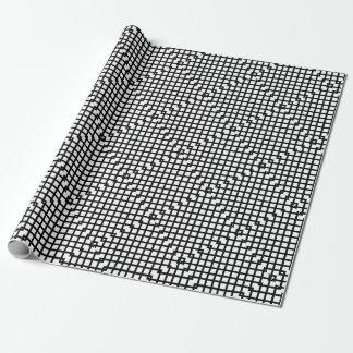 Papel De Regalo Modelo simple blanco y negro